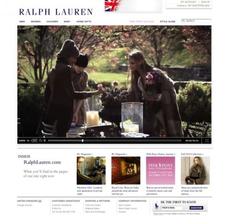 RALPH LAUREN expands to e-commerce to UK