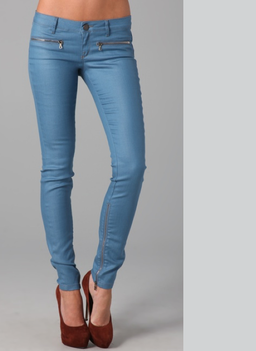 Materialology » Impressive Zip Low Rise Skinny Jeans by Victoria ...