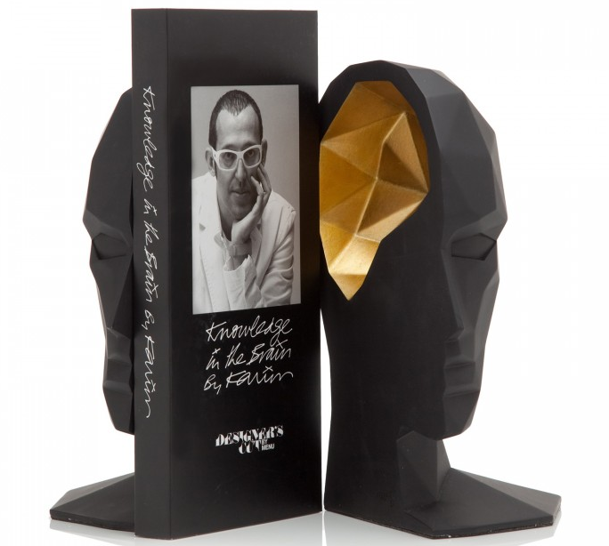 "5c6c7141b31 Karim Rashid ""Knowledge in the Brain"" bookends are quite nice ..."