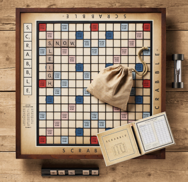 Materialology beautiful vintage giant scrabble board game for Large letter scrabble game