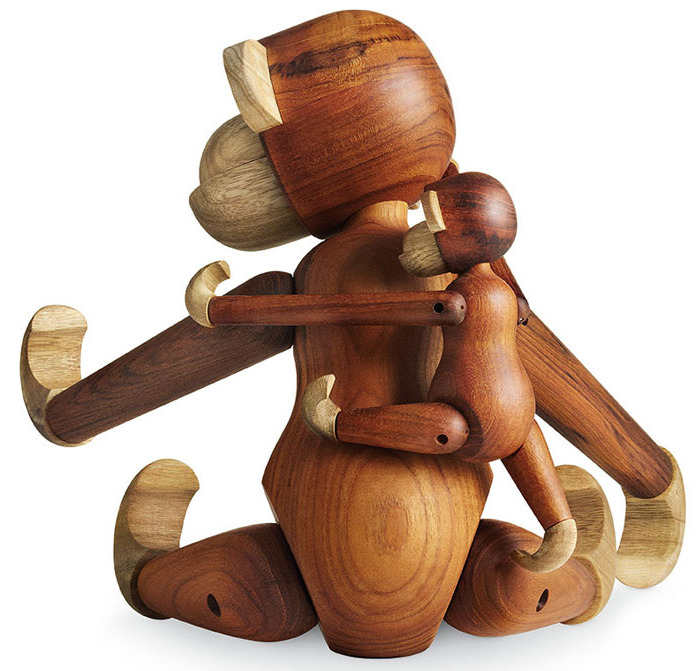 Large Teak/Limba Monkey from Rosendahl