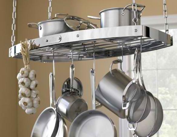 Materialology Beautiful All Clad Oval Hanging Pot Rack
