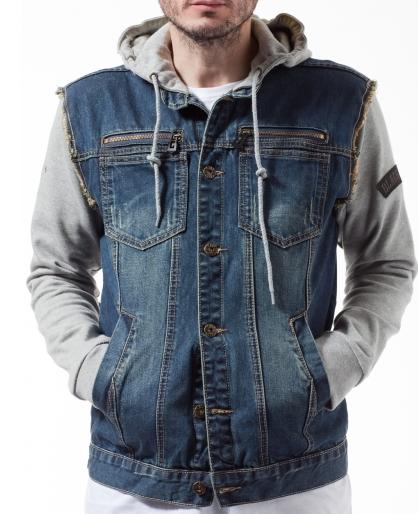 Jean Hoodie Jacket - Coat Nj