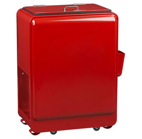 Retro Red Rolling Drink Cooler – Materialology