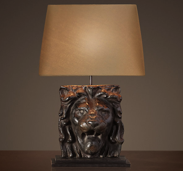 ^ Materialology » SOION HDW Lion Head table lamp