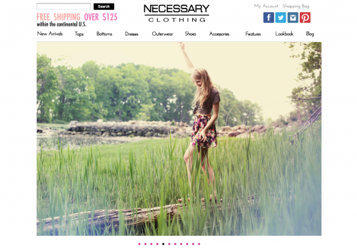 NECESSARY CLOTHING is a wonderfully dynamic retail destination