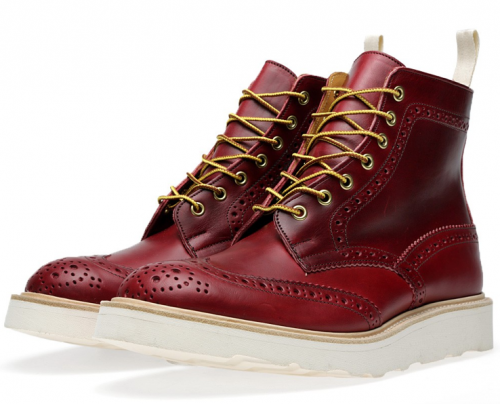 Amazing TRICKER'S x END. Vibram Sole Stow Brogue Boot