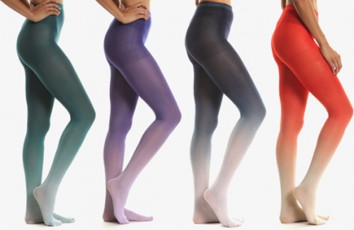 Ombre tights from Purple Label are a must