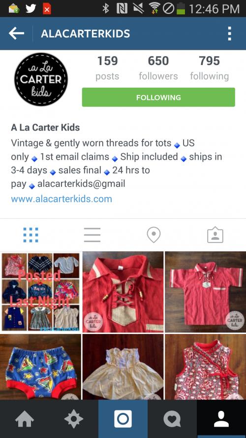 A LA CARTER KIDS is a brilliant destination for your kids style needs