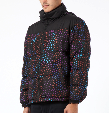 LAZY OAF Midnight Lizard puffer jacket