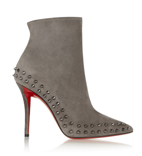 Willeta 100 spiked suede ankle boot by CHRISTIAN LOUBOUTIN