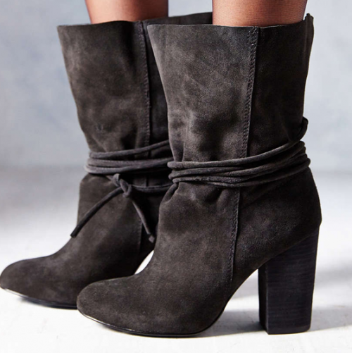 Materialology » ECOTE CARLY suede ankle tie boots