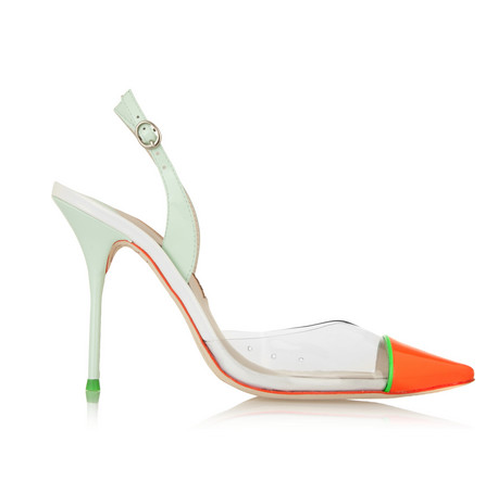 Daria patent-leather and PVC pumps from SOPHIA WEBSTER