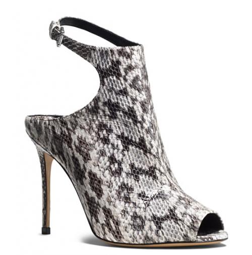 Michael Kors Ankle Strap Cece Snakeskin High Heel Sandals