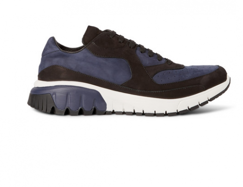 NEIL BARRETT Panelled Suede Sneakers