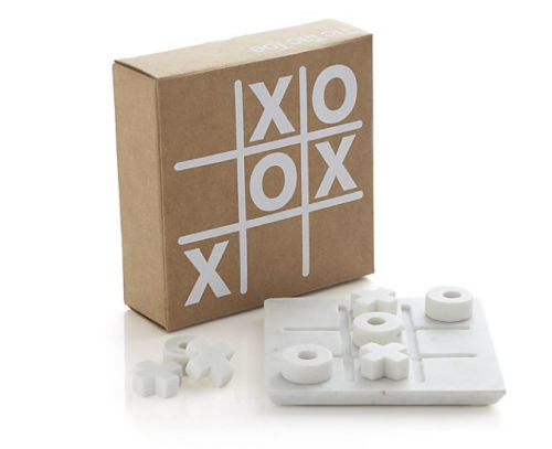 MEN GIFT GUIDE: White Marble TicTacToe Set