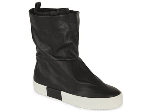GIUSEPPE ZANOTTI slouchy leather trainer boots