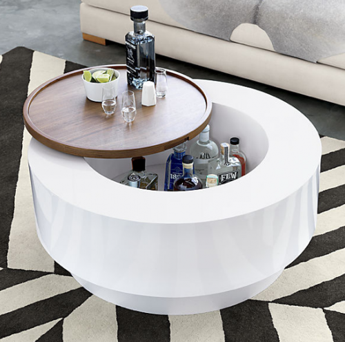Materialology ya ya coffee table from cb2 by lenny kravitz for Cb2 round coffee table