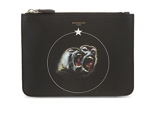 GIVENCHY Twin Monkey Zip Pouch