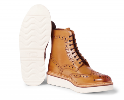 Fred Leather Brogue Boots from GRENSON
