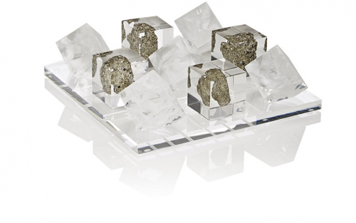 Sawyer Collection's Lucite Tic-Tac-Toe set