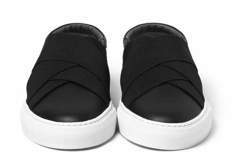 GIVENCHY Elasticated Strap Leather Slip-On Sneakers