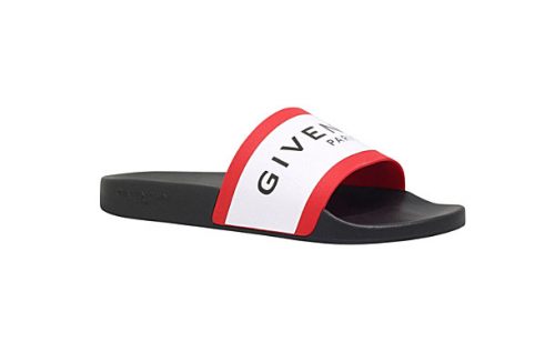 GIVENCHY logo rubber slider sandals