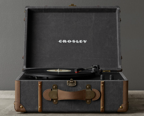 CROSLEY VINTAGE TRUNK DIGITAL CONVERSION TURNTABLE  exclusively for RESTORATION HARDWARE