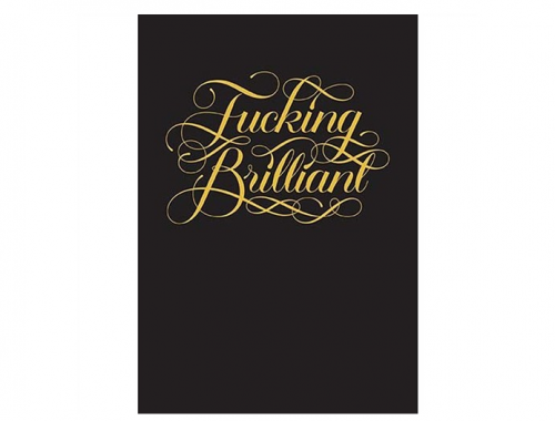 Fucking Brilliant Journal by Calligraphuck