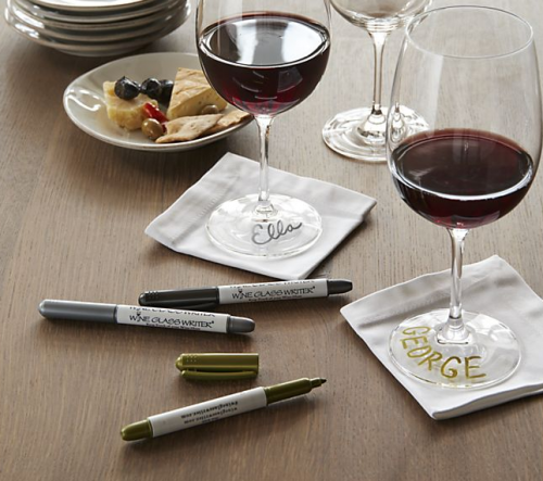 Wine Glass Markers Set of Three