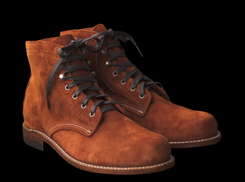materialology wolverine 1000 mile boot in rust suede