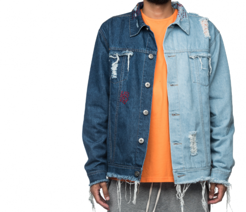 C2H4 Los Angeles Contrast Distressed DNM JKT