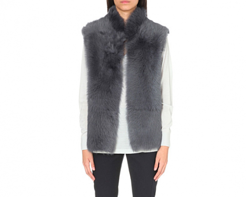 REISS Tessa sleevless shearling gilet