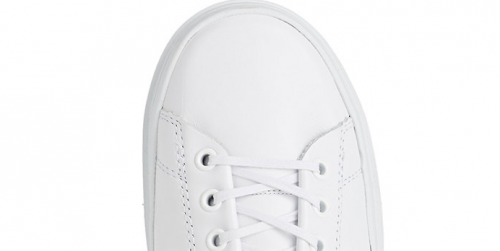CLEAR WEATHER Rippled Sole Leather Sneakers for BARNEY'S NY
