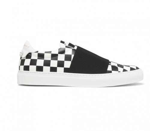 GIVENCHY Elasticated Strap Checkerboard Leather Sneakers