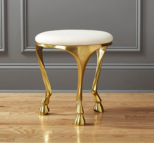 Gallop White Stool from CB2