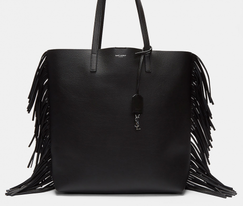 SAINT LAURENT  women's fringed shopping tote bag
