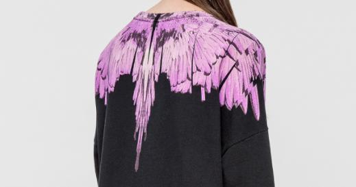 MARCELO BURLON  Narela Poncho Sweatshirt