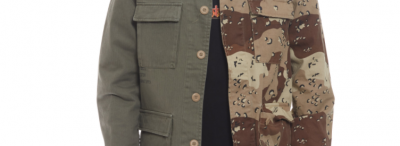 Cool Camo Split Patterned Shirt from 10DEEP
