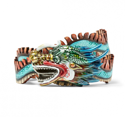 GUCCI Dragon Hand Painted Leather Belt