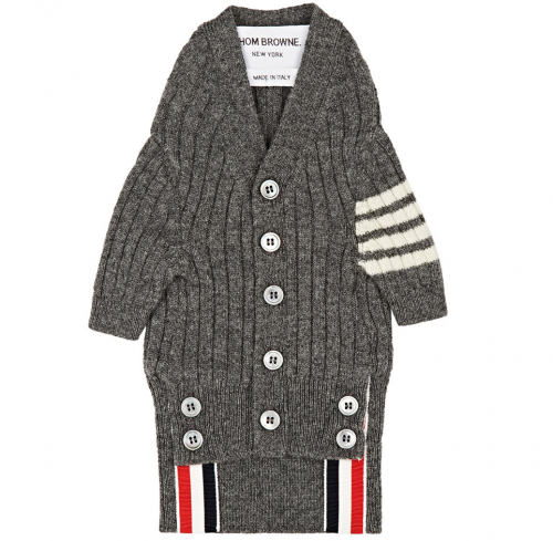 THOM BROWNE Hector Cashmere Dog Cardigan