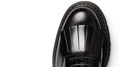 PRADA Spazzolato Kiltie Derby Shoes