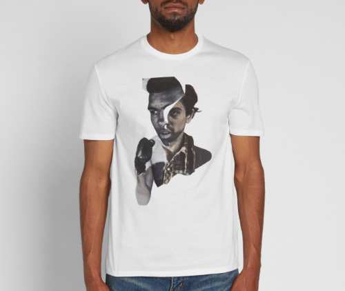 NEIL BARRETT HYBRID ALI AND DE NIRO TEE