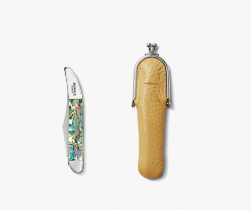 SHINOLA + BEAR & SON Petite Knife with Deerskin Leather Case