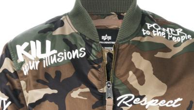 ALPHA INDUSTRIES  camouflage CND bomber jacket