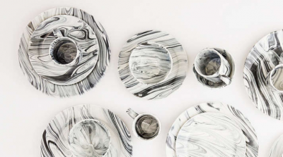 Cool, Sexy and Affordable 16 Piece Marble Glaze Dinnerware Set