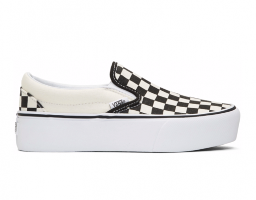 VANS Black & Off-White Checkerboard Classic gets a Platform