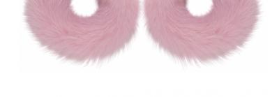 WILD AND WOOLY Pink Mink Hoop Earrings