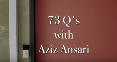 FEATURE VIDEO: 73 Questions With Aziz Ansari from VOGUE