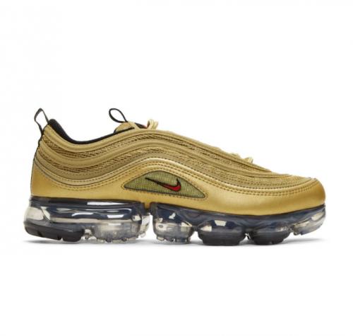 NIKE Gold Vapormax 97 Sneakers